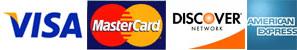 クレジットカード(VISA、MASTER、DISCOVER、AMEX)