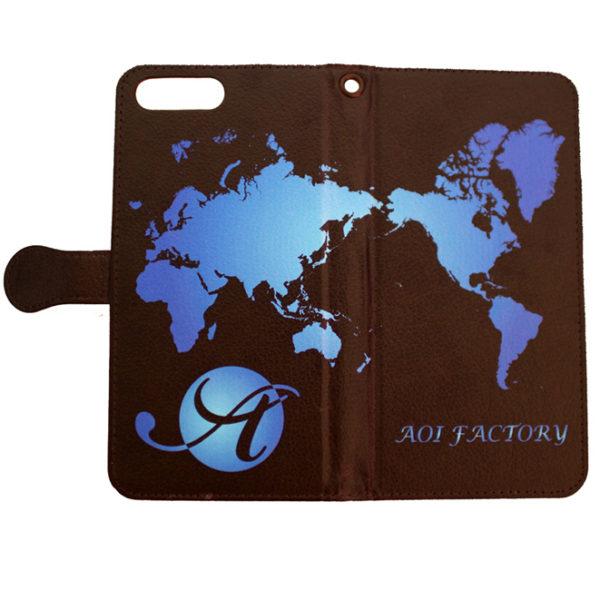 【受注生産】AOI FACTORY WORLD MAP 手帳型スマホケース