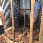 土台、支柱をしっかり固める